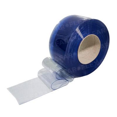 Strisce PVC IGNIFUGO Azzurro trasparente 200x2mm x 50mt