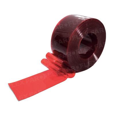 Strisce PVC Rosso trasparente
