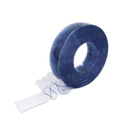 Strisce PVC Azzurro trasparente 100x2mm x 50mt