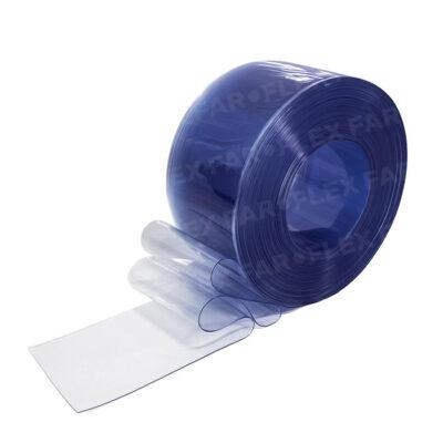 Strisce PVC Azzurro trasparente 200x2mm x 25mt